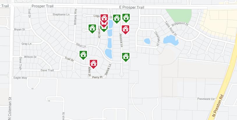 Crestview at Prosper Map