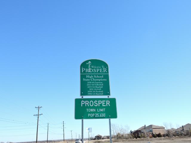 Prosper Town Limit