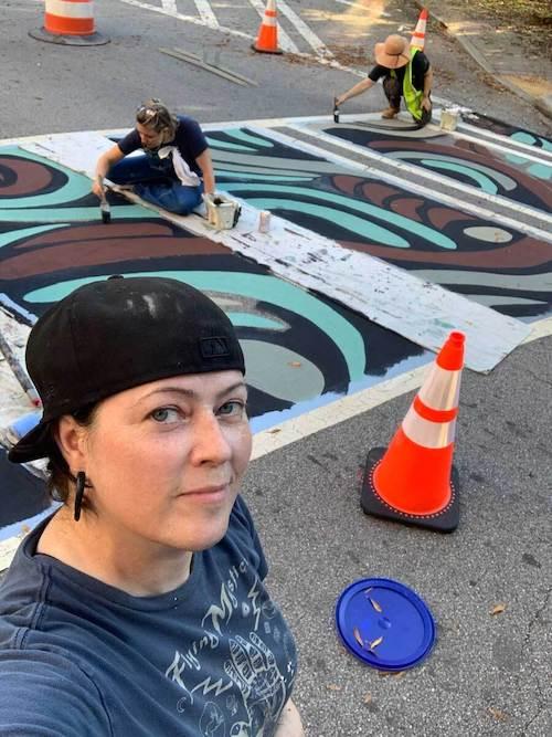 Jonesy Art Crosswalks East Atlanta Village