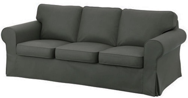 Sofa with a slipcover
