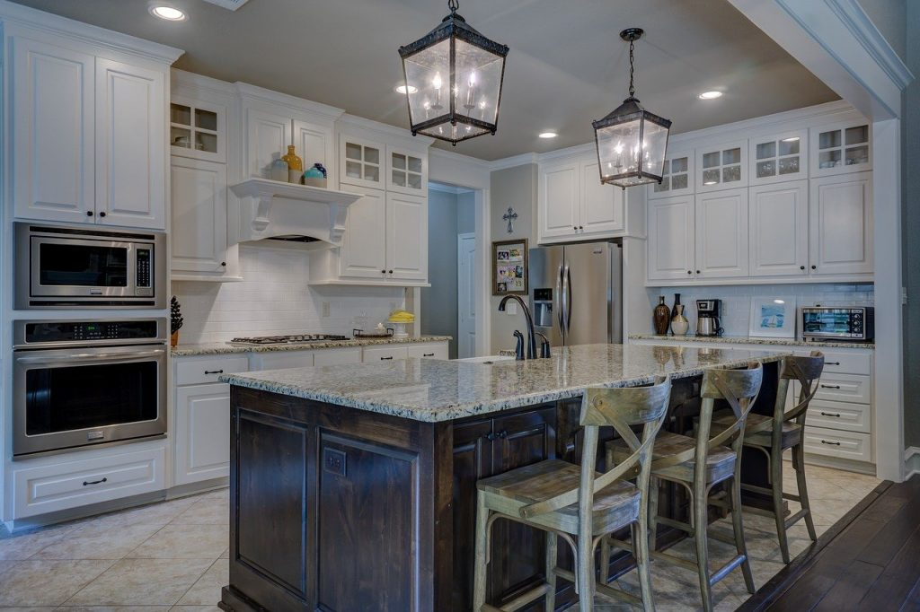 Kitchen with Great Lighting