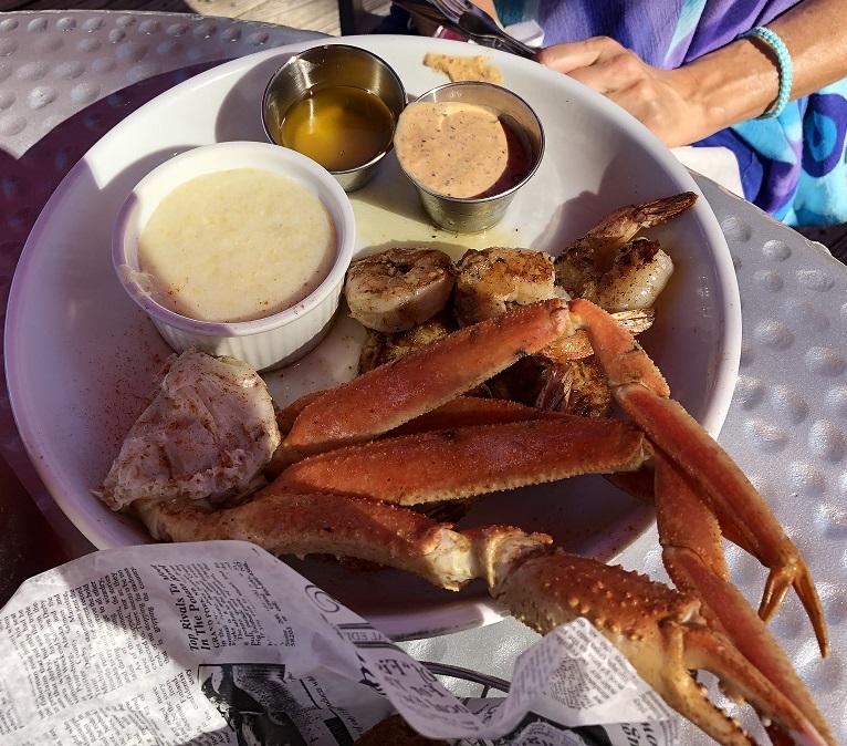 Delicious seafood at Shem Creek restaurants