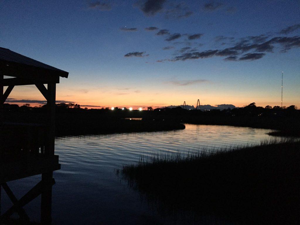 Sunset at Shem Creek Park