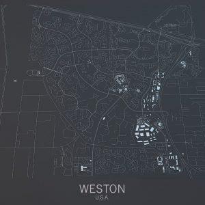 satellite map of Weston, Florida
