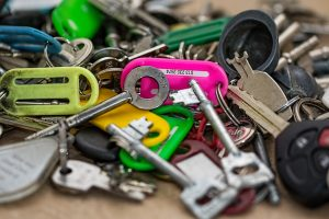 assorted keys and tags