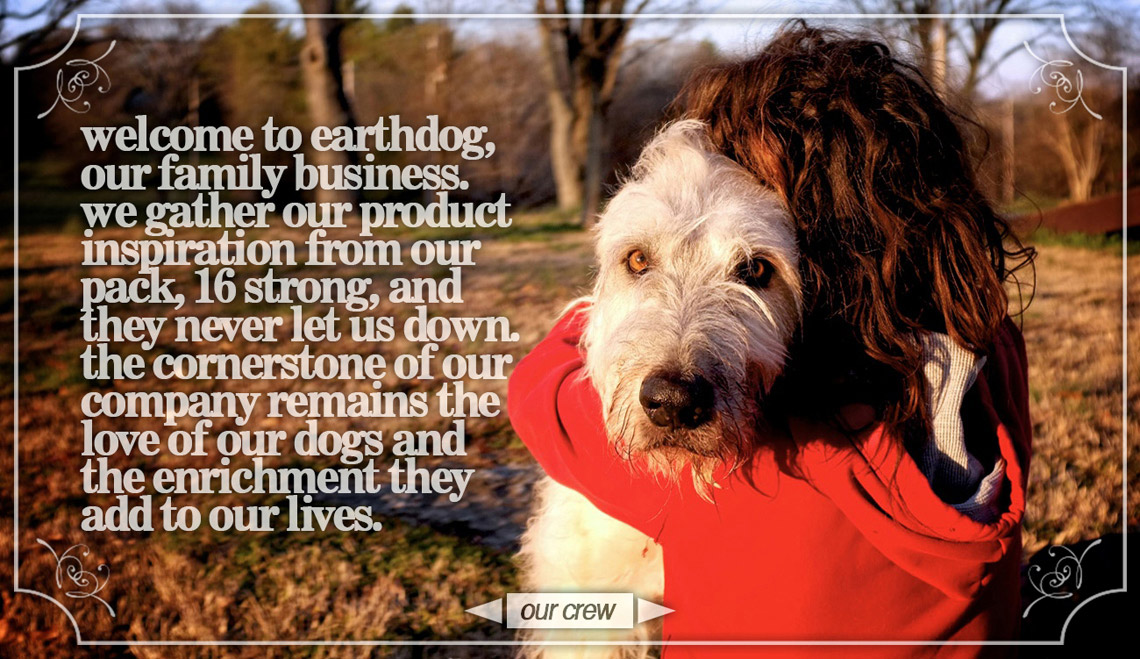 Welcome to earthdog, our family business where we manufacture hemp dog products