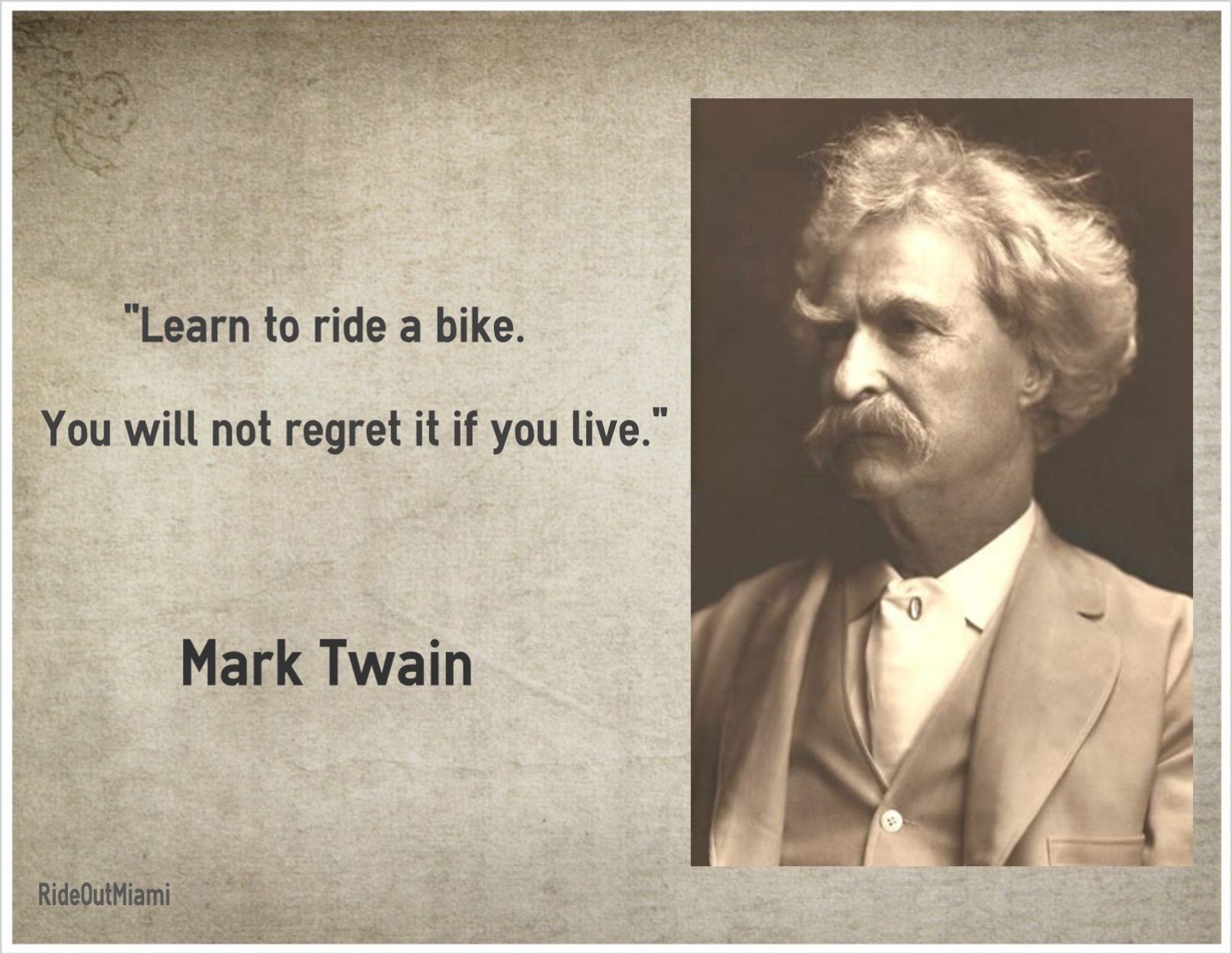 Mark Twain Quotes Famous Bike Quote  Mark Twain  Mark Twain