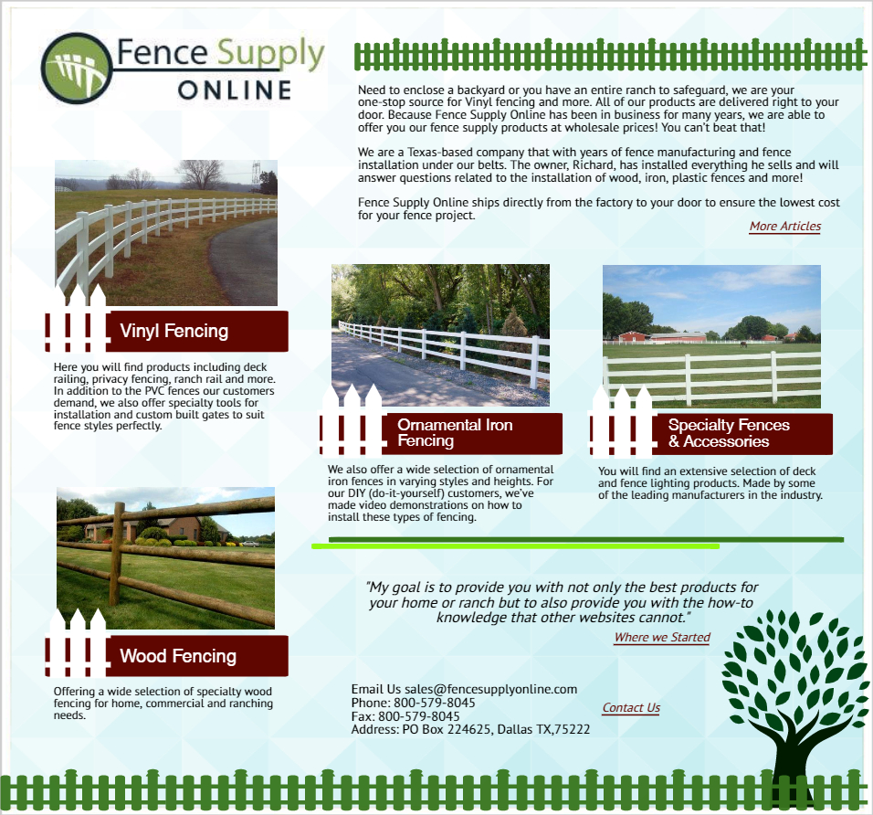 vinyl fencing pvc fence vinyl fence products fence supply online