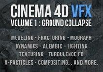 BW Design Cinema 4D VFX Volume 1: Ground Collapse
