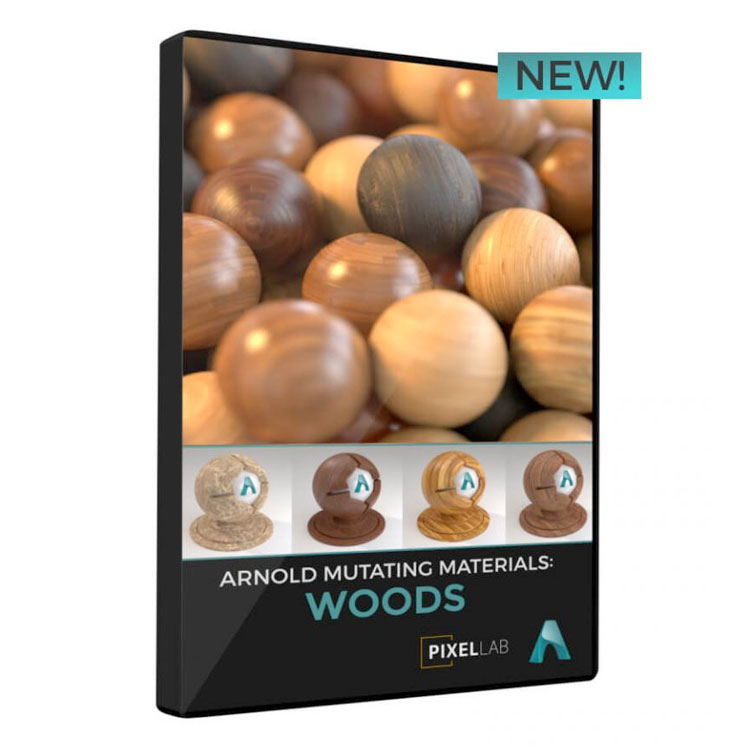 Pixel Lab Arnold Mutating Materials: Woods