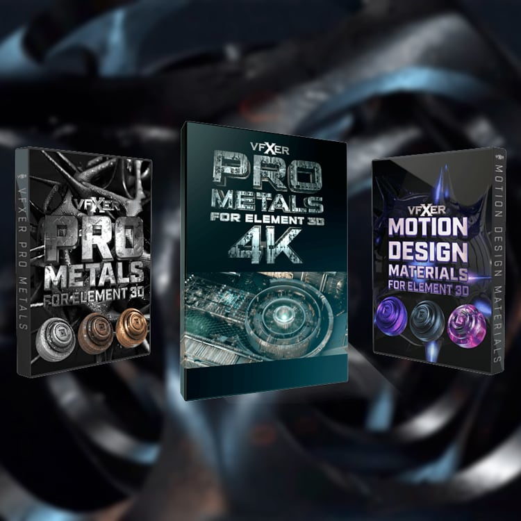 VFXER Element 3D Materials Bundle