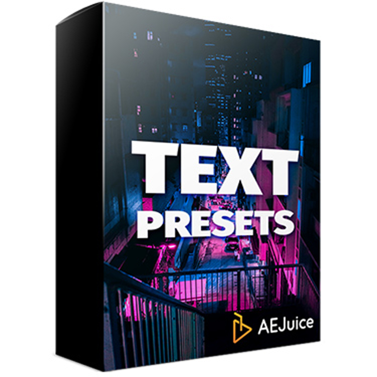 AEJuice Text Animation Presets