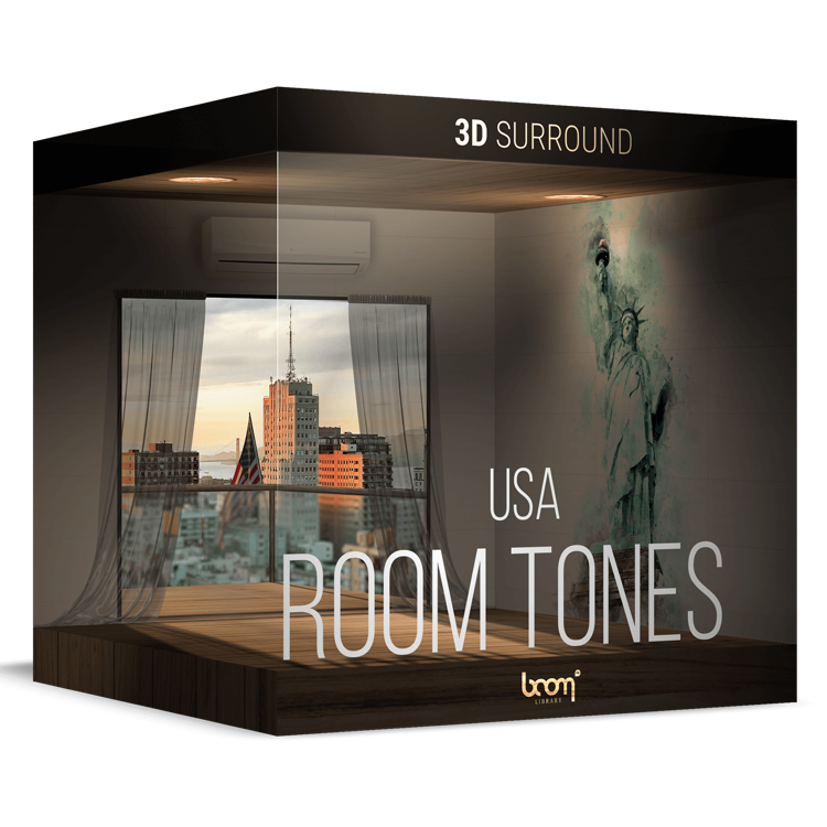 BOOM Library Room Tones USA – 3D Surround