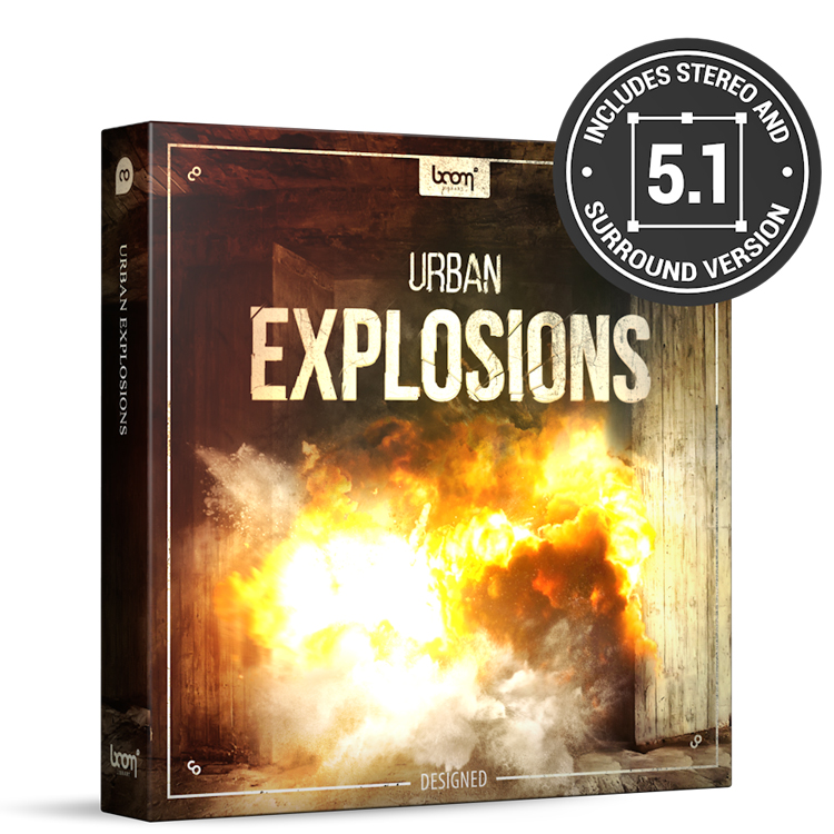 BOOM Library SFX Urban Explosions - Designed