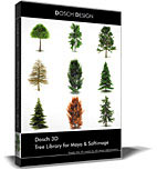 Dosch 2D: Tree Library for Maya & Softimage
