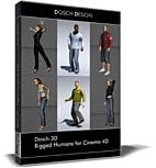 Dosch 3D: Rigged Humans for Cinema 4D