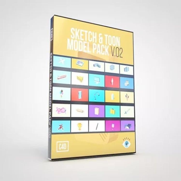 eyedesyn Sketch & Toon Model Pack V.02 for Cinema 4D