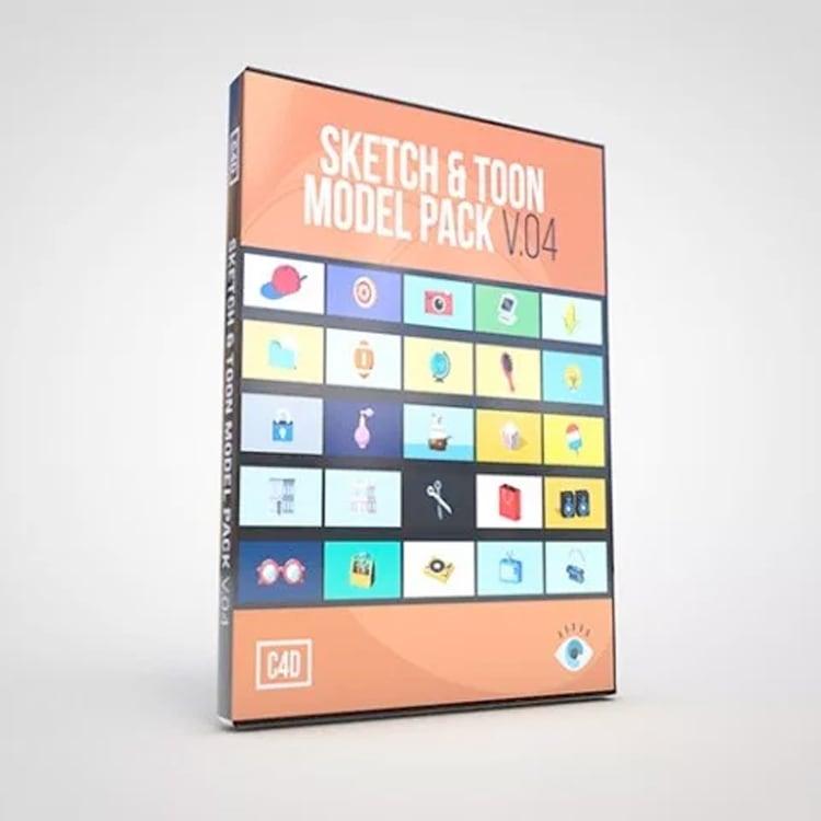 eyedesyn Sketch & Toon Model Pack V.04 for Cinema 4D