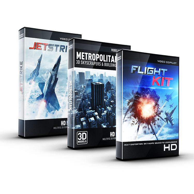 Video Copilot Aerial Bundle (JetStrike + Flight Kit + Metropolitan)