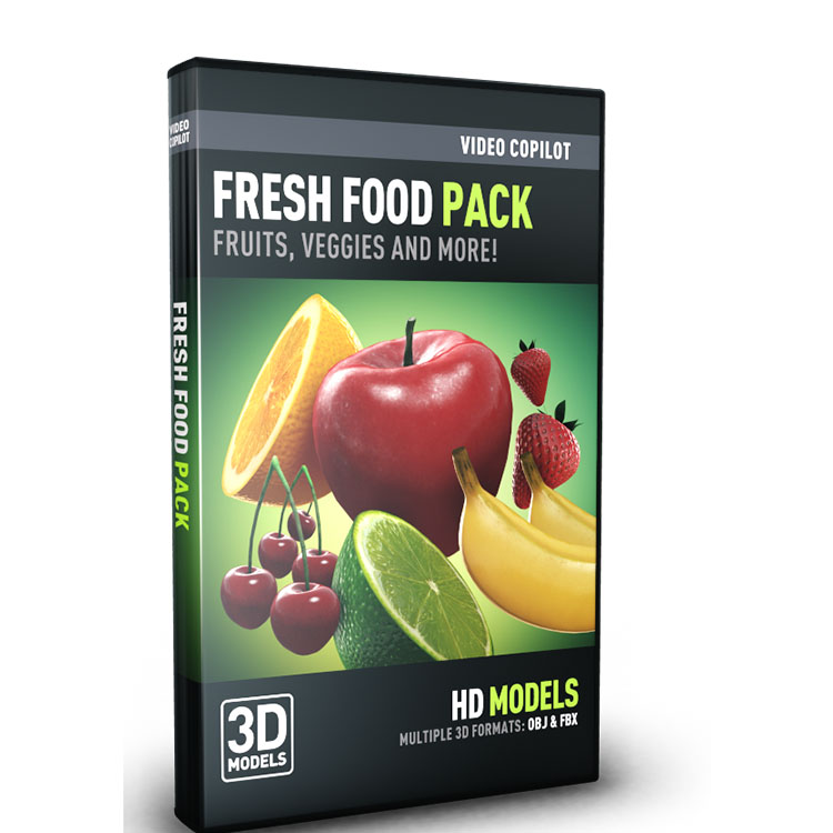 Video Copilot 3D Model Pack - Fresh Food