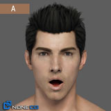 NoneCG Adult Male Head Rigged 3D Model