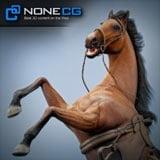 NoneCG Horses Animated Maya v2