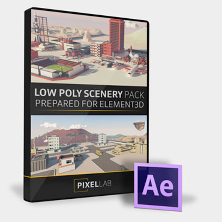 Pixel Lab Low Poly Scenery Pack for Element 3D