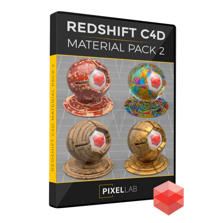 Pixel Lab Redshift Material Pack for C4D 2