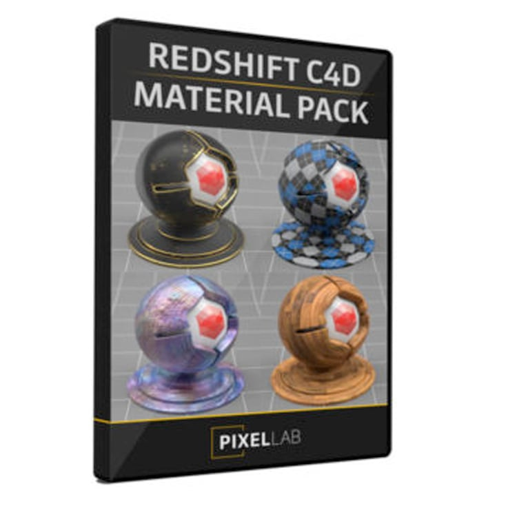 Pixel Lab Redshift Material Pack for C4D