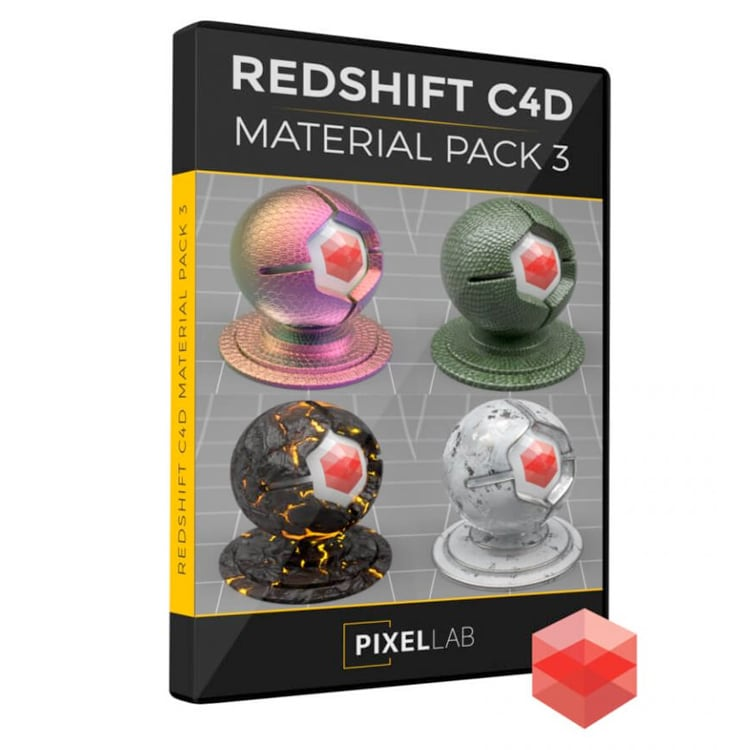 Pixel Lab Redshift Material Pack for C4D 3