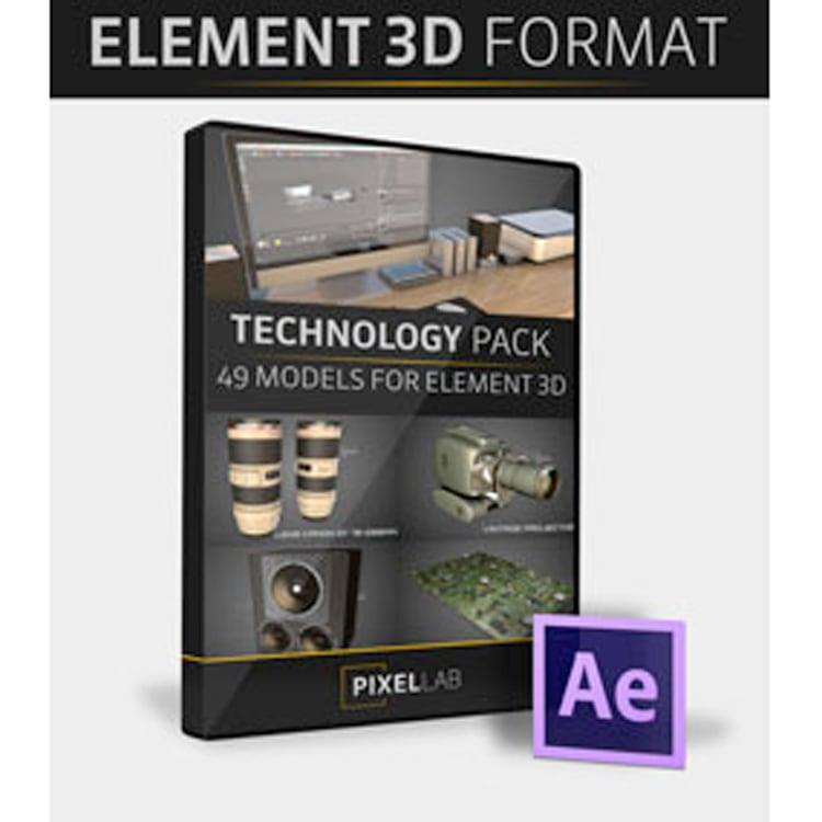 Pixel Lab Technology Pack for Element 3D