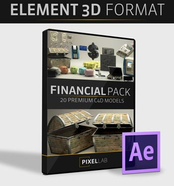Pixel Lab Financial Pack For Video Copilot Element 3D