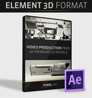 Pixel Lab 3D Video Production Pack - Element 3D Version