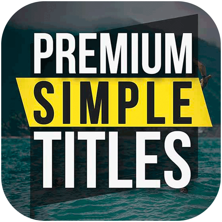 PremiumVFX Simple Titles for FCPX