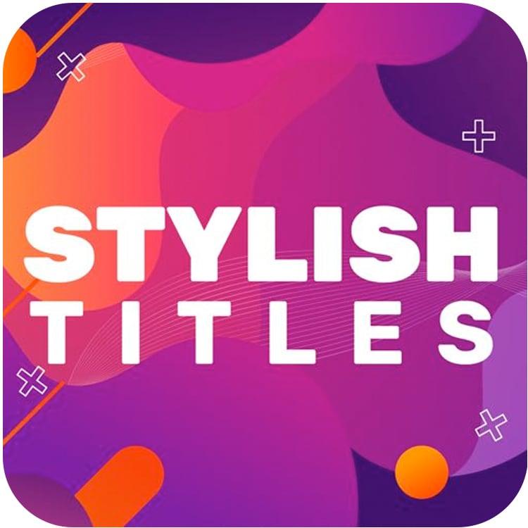 PremiumVFX Stylish Titles