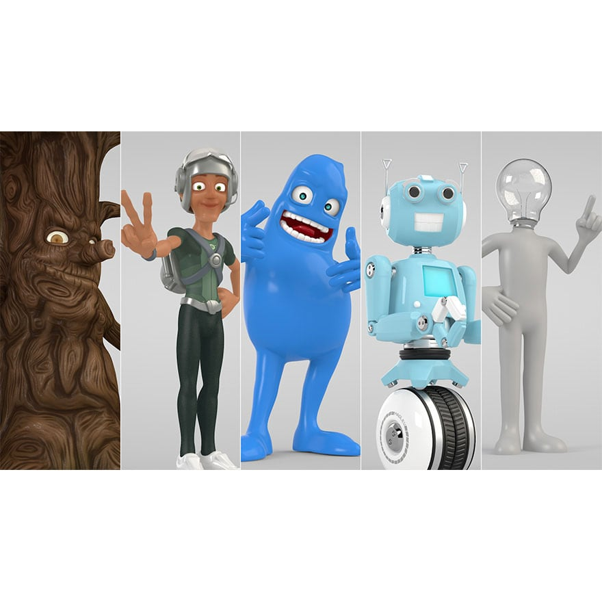 Renderking Cinema 4D Characters Pack