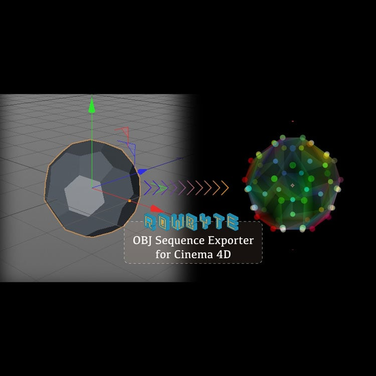 Rowbyte Plexus OBJ Sequence Exporter for Cinema 4D