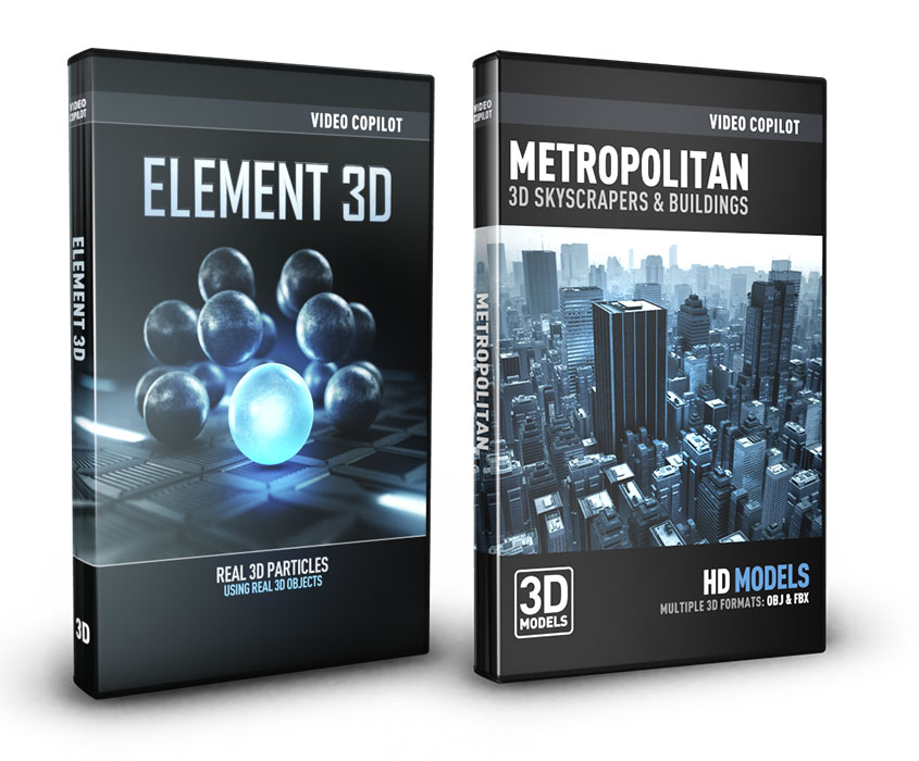 Video Copilot City Bundle (Element 3D + Metropolitan Pack)
