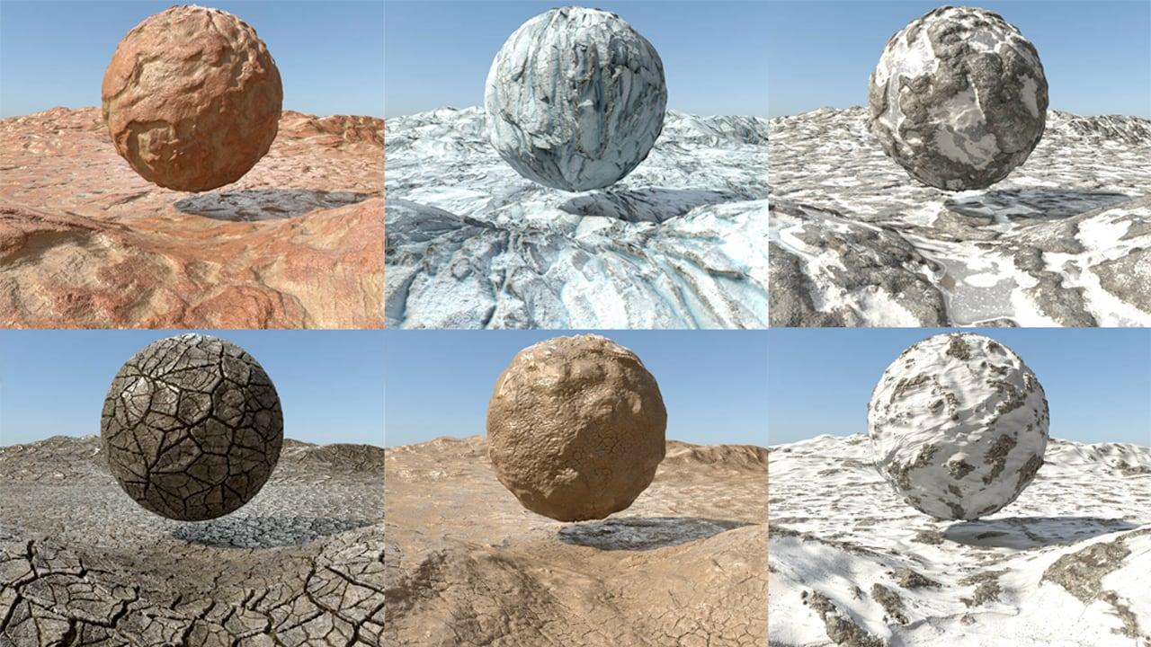 Pixel Lab Redshift Mutating Materials: Terrains