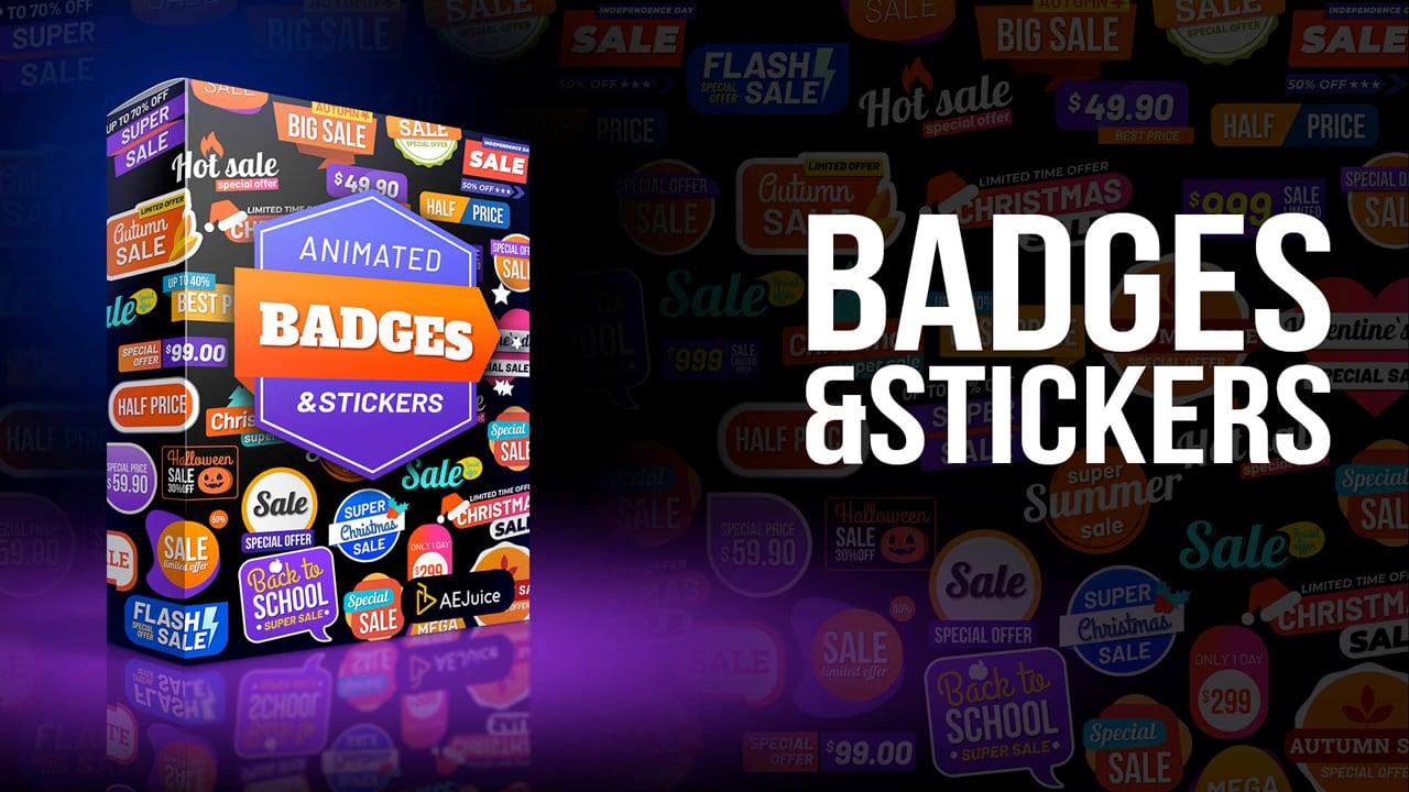 AEJuice Animated Sales Badges