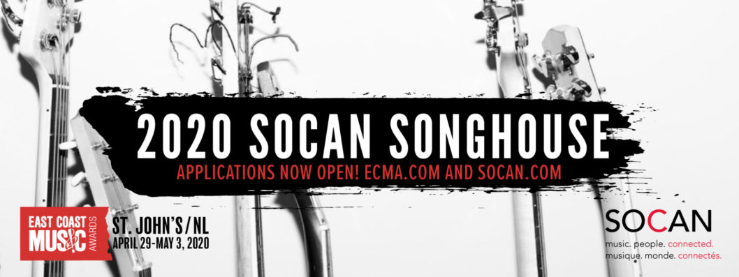 Submissions now OPEN for the SOCAN Song House at 2020 East Coast Music Awards: Festival & Conference presented by TD!