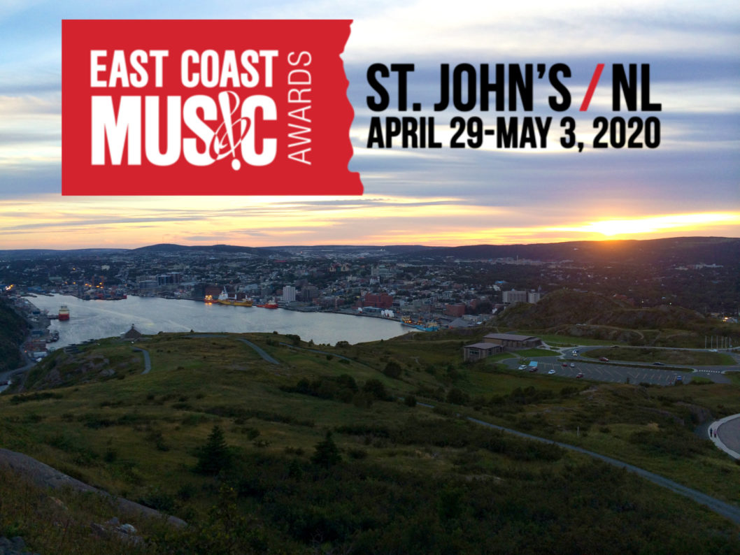 East Coast Music Awards Return to St. John's- April 29-May 3, 2020