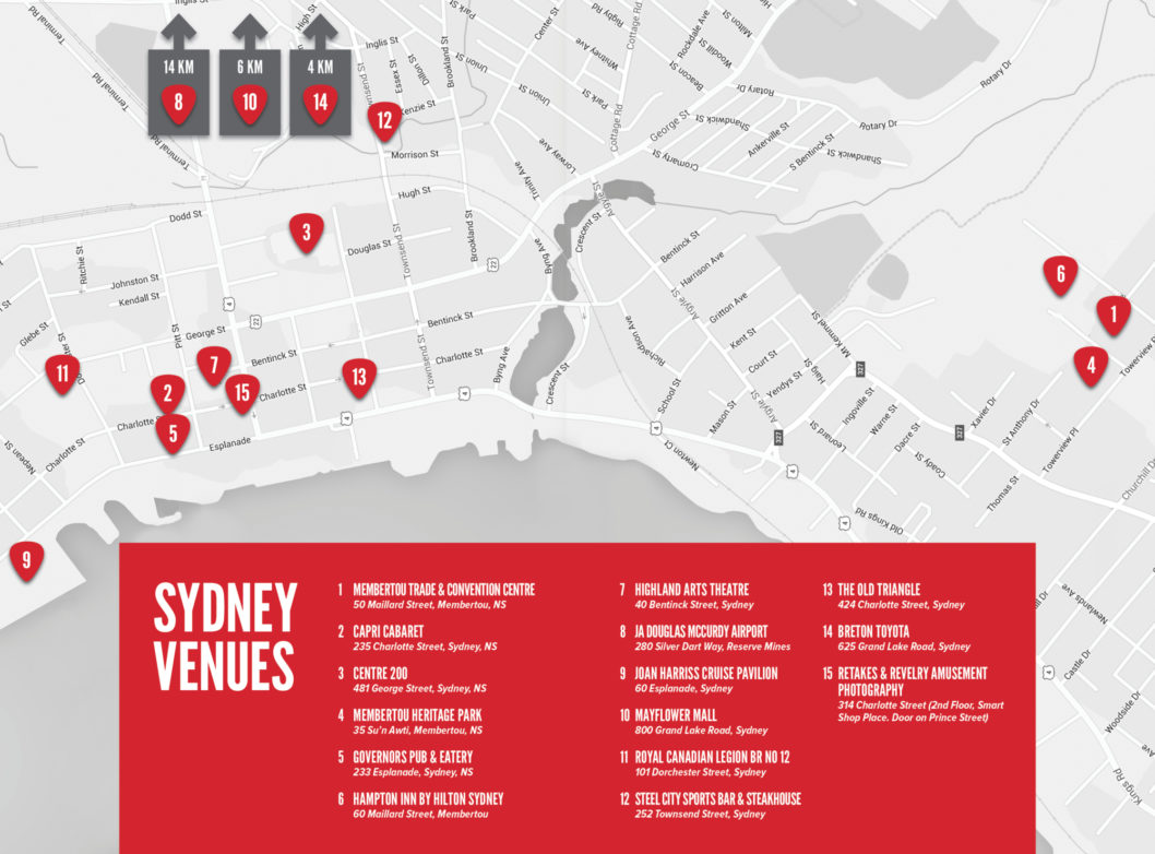 ECMW 2016: Gigs At A Glance and Venue Map
