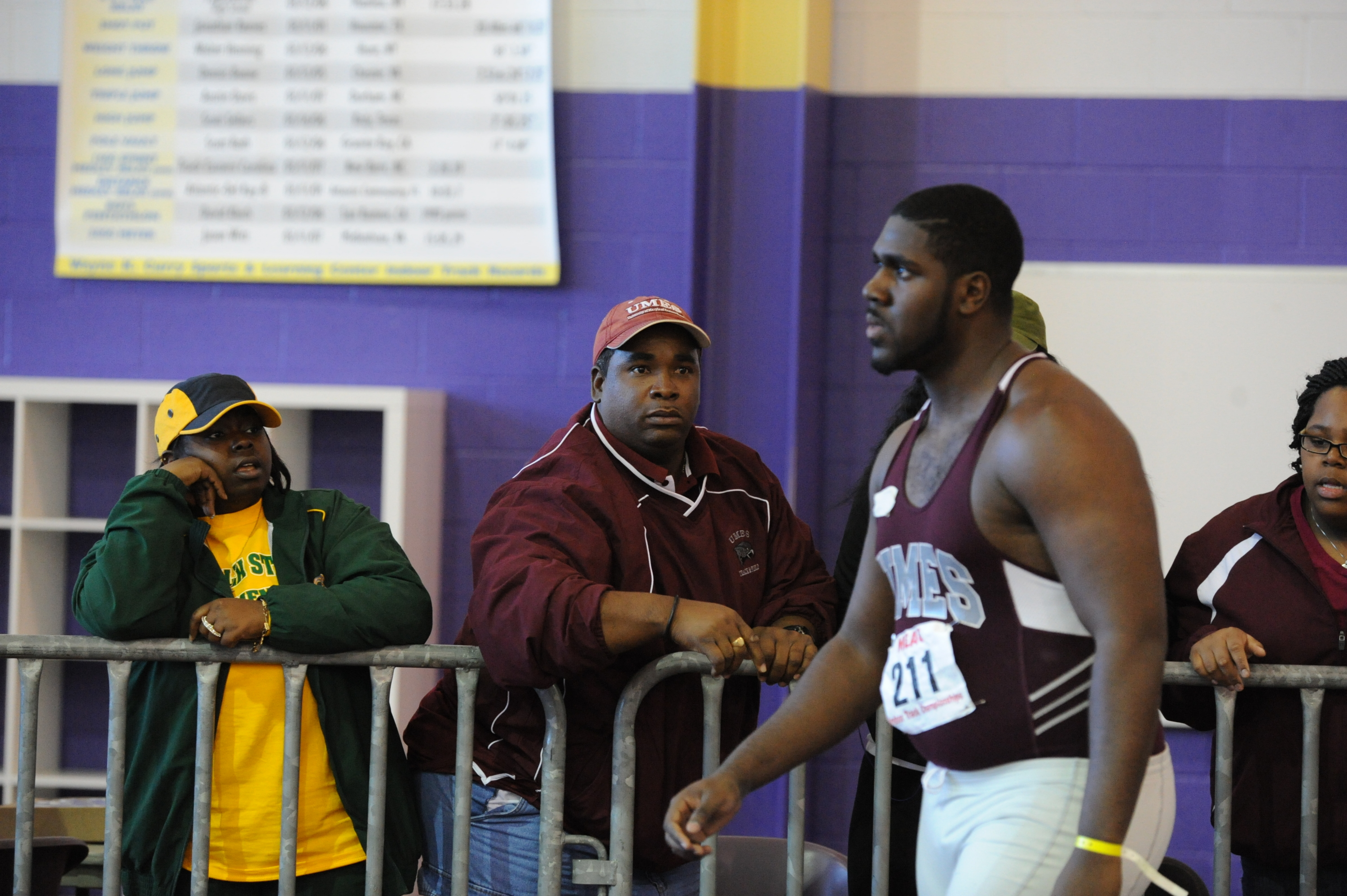 Coach Curtley Bynoe's throwers did not disappoint in their debuts