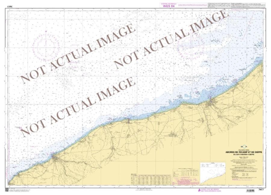 De Villefranche-sur-Mer a Menton nautical chart by SHOM