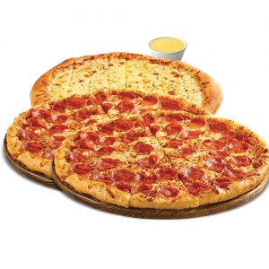 SP #8 - 2 X 12 inch Pizza 3 Toppings, 12 inch Garlic Cheese Fingers, Lg Dipping Sauce