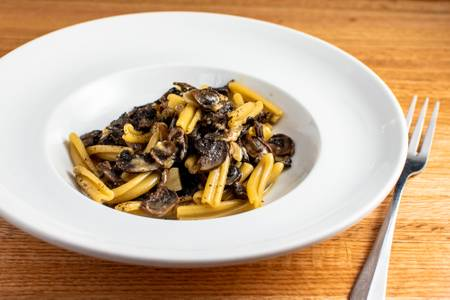 Saut?ed Mushrooms, Olive Oil, Garlic & Pecorino from 107 State in Madison, WI