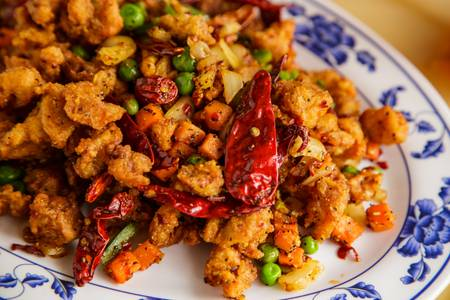 K16. Hot Spicy Pepper Chicken from A8 China in Madison, WI