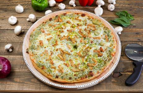 Pesto Chicken Pizza from Ameci Pizza & Pasta - Irvine in Irvine, CA