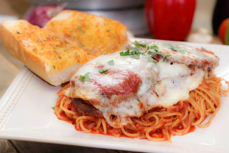 Chicken Parmigiana with Spaghetti (Lunch) from Ameci Pizza & Pasta - Lake Forest in Lake Forest, CA